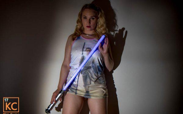 Kim Cums: Star Wars Lightsaber Slut