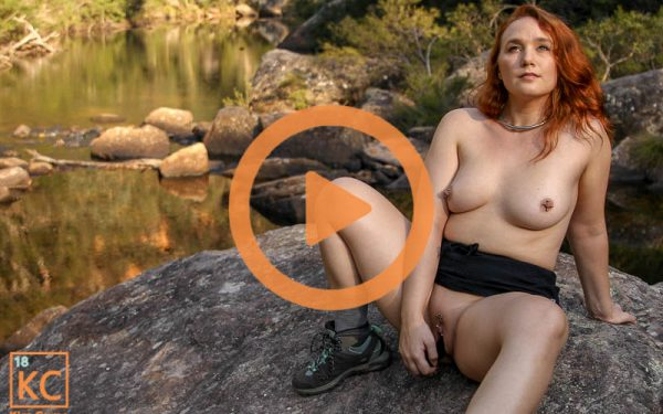 Kim Cums: Afternoon Squirting by the Creek